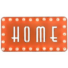 Dot & Bo HOME2 Marquee Sign ($104) ❤ liked on Polyvore featuring home, home decor, wall art, word wall art, contemporary metal wall art, metal signs, typography wall art and text signs