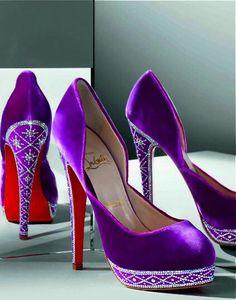 Elegant, simple Christian Louboutin heels for women fashion style. high heels,heels for women 2015 #Christian Louboutin #Shoe Paradise #red #bottoms