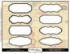 Image detail for -Clip art set of 8 Fancy Rectangle Frames by TresCutiesDesigns  To use for temp cookie cutter