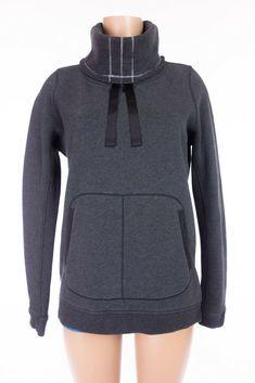 LULULEMON Avenue Pullover 10 M Loose Fit Heathered Black Hoodie Cotton Fleece #Lululemon #TracksuitsSweats