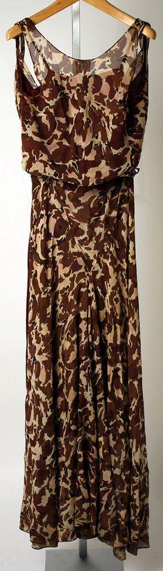 Ensemble, Evening.  Elsa Schiaparelli (Italian, 1890–1973).  Date: ca. 1931. Culture: French. Medium: silk. Dimensions: a) L. at center back: 25 in. (83.5 cm). b) L. at center back: 44 in. (111.7 cm). c) L. at center back: 53 in. (134.6 cm).