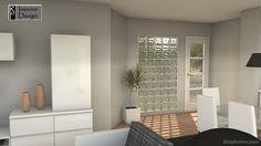 ladrillo de luz - Buscar con Google Glass Blocks Wall, Glass Brick, Brick Wall, Decoration, Home Projects, Lounge, House Design, Interior Design, Google