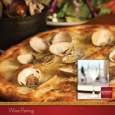 Balance the flavors of coal-fired, clam pizza with a crisp and refreshing Pinot Grigio. #winepairing