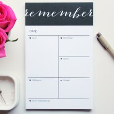 remember notepad by charmandgumption, etsy. $17