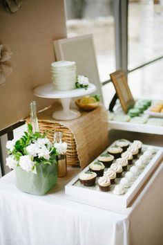Mint and mustard bridal shower - desserts by 2tarts, styling and design by Mayhar Design, photos by Christine Sargologos