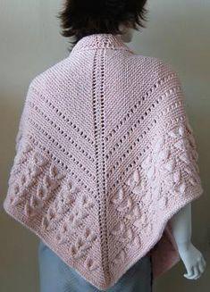 free pattern shell stitch and eyelets shawl more free knitting