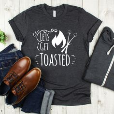 This get toasted shirt is ideal for those looking for a funny attire and retro ideas for camping and traveling. Hiking Shirts, Travel Shirts, Vacation Shirts, Vinyl Shirts, Cool Shirts, Funny Shirts, Beach Shirts, Summer Shirts, Camping Humor