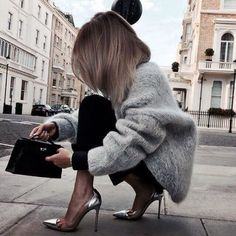 Trending style! They are selling out fast! Claire Luxe Faux Fur Coat