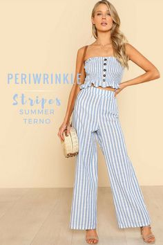 Cropped top is perfect for this season! Match it with a long down pants and be in trend. #terno #expressionation #summer