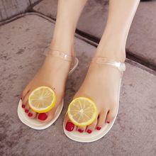 Femmes plat avec Sandales Femmes 2016 été gelée Flip Flops appartements Chaussures transparentes charme Sandales Tongs Chaussures Femmes(China (Mainland))