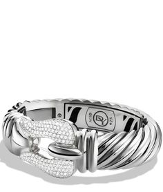 Cable Buckle Large Bracelet with Diamonds