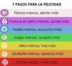 #Infografia: 7pasos para la felicidad. <-- Tanto que me critican por sentir :)