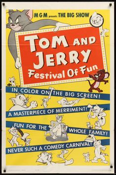 Tom and Jerry Festival of Fun poster.