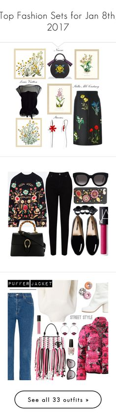 """Top Fashion Sets for Jan 8th, 2017"" by polyvore ❤ liked on Polyvore featuring Frontgate, STELLA McCARTNEY, Louis Vuitton, Belgique, Gucci, EAST, Muse, Dolce&Gabbana, NARS Cosmetics and Dsquared2"