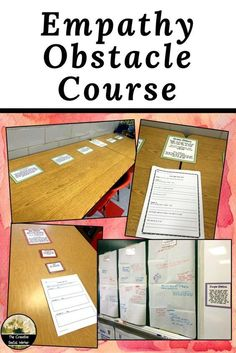 Empathy Obstacle Course: Class Lesson Empathy Obstacle Course: Class Lesson,Teaching empathy Use this fun and interactive counseling class activity to help students understand empathy first-hand. 5 hands-on stations included! Elementary School Counseling, School Social Work, School Counselor, Elementary Schools, Elementary Guidance Lessons, High School, Counseling Activities, Class Activities, Therapy Activities