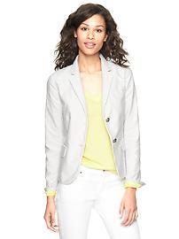 Striped khaki academy blazer