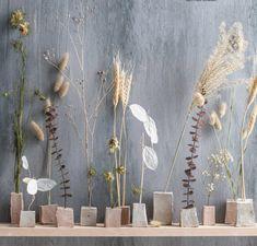 Dried Flower Arrangements, Flower Vases, Dried Flowers, Flower Diy, Diy Clay, Clay Crafts, Diy Fleur, Deco Floral, Autumn Crafts
