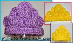 Crochet Tiara - Many Colors Available. 12.00, via Etsy.