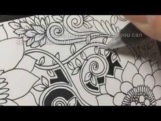ボタニカルゼンタングルの描き方 (How to draw botanical zentangle) 【JP/EN】 | Noah's ART Gallery