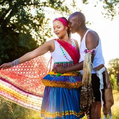 A Stunning Xitsonga Wedding South African Wedding Dress, African Traditional Wedding Dress, African Wedding Attire, Traditional Wedding Attire, African Attire, Traditional Outfits, Tsonga Traditional Dresses, Shweshwe Dresses, African Fashion Skirts