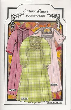 f647b3d515 Autumn Leaves Smocked Nightgown   Robe Pattern by by pinkhollybush