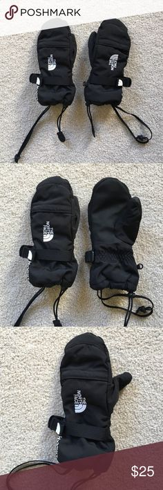 Never worn. The North Face kids ski mittens Brand new.  Never  worn. Black kids small ski mittens. Fits size 8-10 year old. The North Face Accessories Mittens