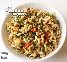Vegetable Pasta Salad Recipe, How To? Turkish Recipes, Ethnic Recipes, Vegetable Pasta Salads, Pasta Salad Recipes, Recipies, Food And Drink, Appetizers, Snacks, Vegetables