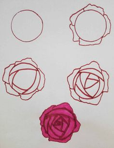 Rose Drawing How To Draw Roses - Open and Easy - There are about a dozen different ways you can draw roses. I'm showing you the top 5 ways on how to draw roses. Plus rose themed bullet journal spreads. Rose Doodle, Doodle Art, Flower Drawing Tutorials, Art Tutorials, Art Floral, Bullet Drawing, Diy Embroidery Flowers, Flower Pattern Design, Flower Patterns
