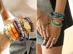 I love layered bracelets. So, so much.