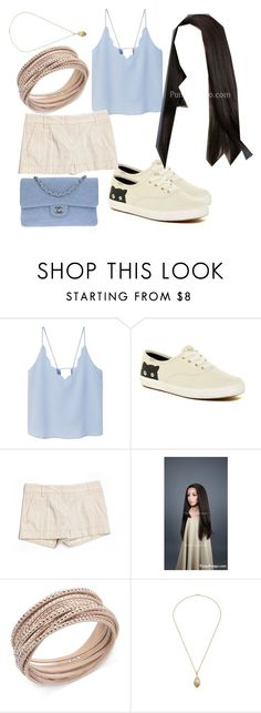 """""""Date Night in Missoula MT"""" by flashinglights-397 on Polyvore featuring MANGO, Keds, BCBGMAXAZRIA, Swarovski and Chanel"""