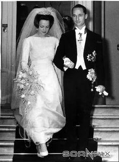 La boda de la princesa Irene de Holanda con el duque Carlos Hugo de Parma (Borbón-Parma) el  29 de abril de 1964.