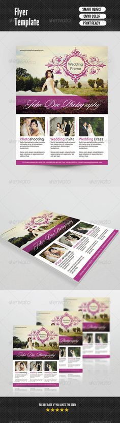 Photography Flyer Template-V339 | Photography flyer, Flyer template ...