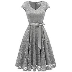 kojooin damen vintage kleid brautjungfernkleid knielang langarm spitzenkleid cocktailkleid