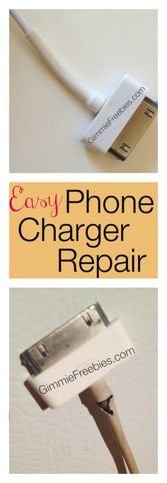 How to Fix Your Phone Charger Cord - Cheap! {DIY} works on iPhone, iPad, Android, tablets, ear buds, and lots more!!