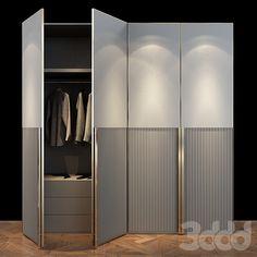 3d модели: Шкафы - Cabinet Furniture 032 Wall Wardrobe Design, Sliding Door Wardrobe Designs, Wardrobe Room, Wardrobe Furniture, Cabinet Door Designs, Cupboard Design, Room Design Bedroom, Bedroom Furniture Design, Luxury Wardrobe