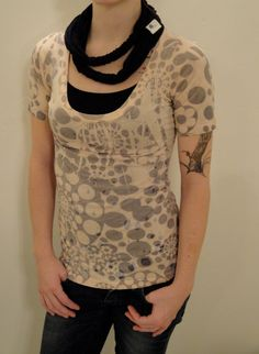 Recycled material black infinity fashion scarf $21.00