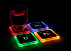 Buy Radioactive Elements Glowing Coaster Set online and save! Now we're in our element We love chemistry, so we really light up when we talk about this product created at ThinkGeek: our Radioactive Elements Glow. Cool Coasters, Table Coasters, Geek Decor, Ideias Diy, Take My Money, Coaster Furniture, Cool Gadgets, Tech Gadgets, Geeks