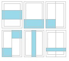 some possible layouts when piecing a quilt back