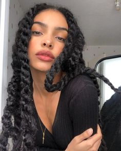 Protective Hairstyles, Cute Hairstyles, Braided Hairstyles, Black Girls Hairstyles, Hair Inspo, Hair Inspiration, Curly Hair Styles, Natural Hair Styles, Mixed Girls