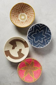Anthropologie Favorites:: The Happiest Hue Baskets On Wall, Hanging Baskets, Looking For Apartments, Apartment Needs, Weaving Textiles, Home Decor Accessories, Interior And Exterior, Interior Decorating, Decorating Bathrooms