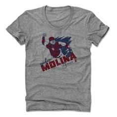Yadier Molina Force R St. Louis MLBPA Officially Licensed Womens Scoop Neck T-Shirt S-XL