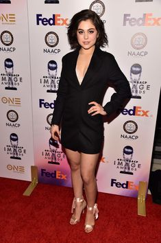 Mika Abdalla Photos - Actress Mika Abdalla attends the NAACP Image Awards Non-Televised Award Show at The Pasadena Civic Auditorium on January 2018 in Pasadena, California. - NAACP Image Awards - Non-Televised Awards Dinner and Ceremony Mika Abdalla, Manhattan Beach Pier, Female Character Inspiration, Beauty Queens, Female Characters, Movies And Tv Shows, Red Carpet, Awards, Pasadena California
