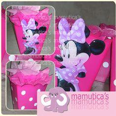 Mamutica's: Cajas para centros de mesa Minnie Mouse                                                                                                                                                     Más