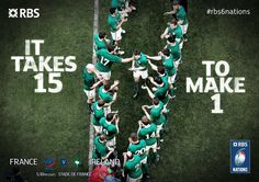 It takes 15 to make 1 Irish Rugby, Six Nations, Team Player, Guinness, Ireland, Take That, How To Make, Irish