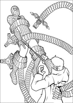 Spiderman Målarbilder för barn. Teckningar online till skriv ut. Nº 43