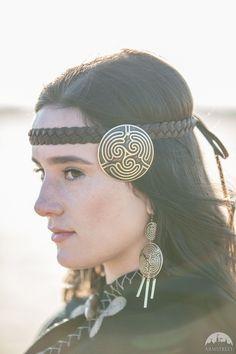 "Tribal Headband ""Labyrinth"""