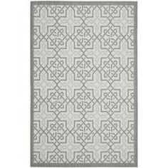 @Overstock - Featuring a geometric tile design, this polypropylene indoor-outdoor rug will look fabulous on your back porch or by the pool. Designed to resist fading, mildew, and mold, this stunning rug features a gray border that pulls the entire look together.http://www.overstock.com/Home-Garden/Light-Grey-Anthracite-Indoor-Outdoor-Rug-8-x-112/6680143/product.html?CID=214117 $214.99