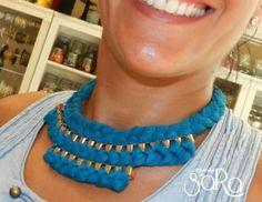 Collar-Gargantilla con cadena dorada cuadrada y trapillo (4)
