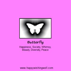 Spirit of Butterfly, a link to online info about the Butterfly animal spirit guide or totem, with facts about butterflies and their meaning in nature magic and culture. http://www.happywishingwell.com/madamhelga/butterfly.html