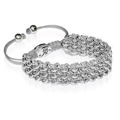 Silver Kismet Links Bracelet   Slate